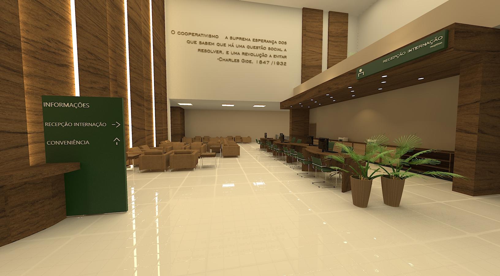 Imagem Ambientação 09 A ambientação dentro do edifício hospitalar