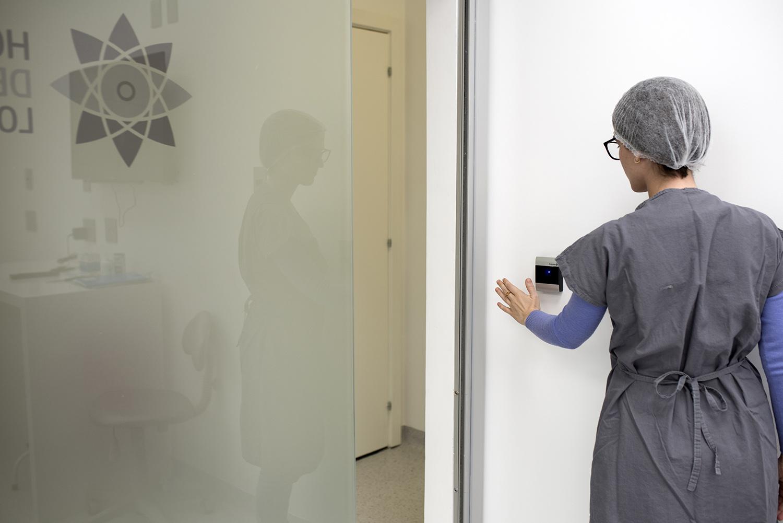 baixa DSC 2124 Portas automáticas para centro cirúrgico